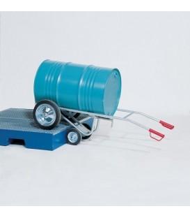 Fatkärra med två stödhjul, pulverlack, solidgummihjul